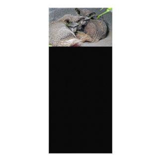 Cute Fox Couple Sleeping Photo Personalized Invitations