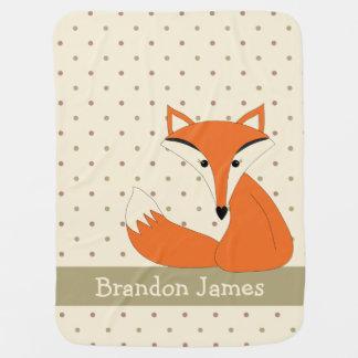 Cute Fox Double Sided Print Baby Blanket