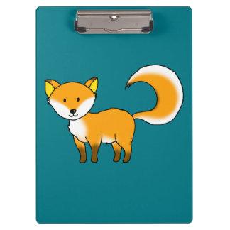 cute fox forest animal cartoon clipboard