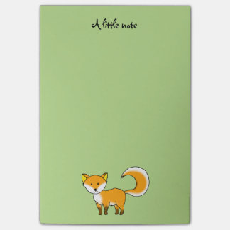cute fox forest animal cartoon post-it® notes