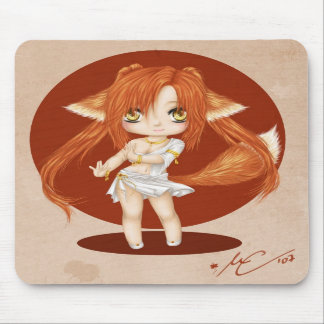 Cute Fox Girl Mousepad
