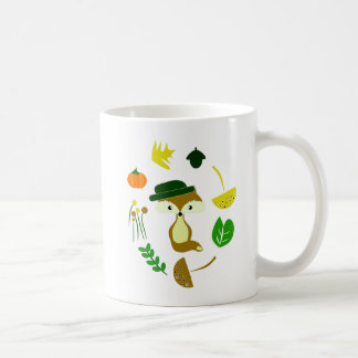 Cute fox in autumn coffee mug