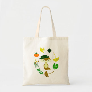 Cute fox in autumn tote bag
