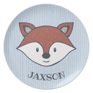 Cute Fox Personalized Woodland Friend Plate