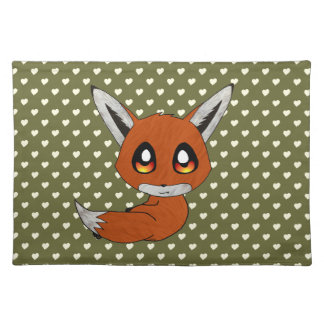 cute fox placemat