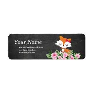 cute fox  return address stickers