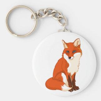 Cute Fox Sitting Keychain