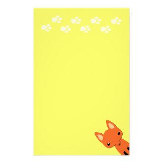Cute fox stationary stationery
