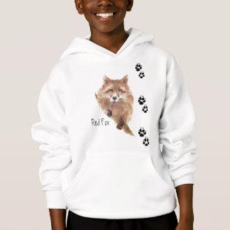 Cute Fox Tracks Animal Hoodie