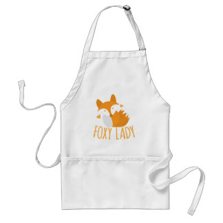 Cute foxy lady standard apron