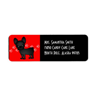 Cute French Bulldog Cartoon Black