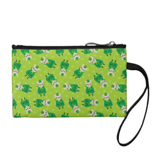 Cute French Bulldog is Feeling Lucky on St. Patric Coin Purses