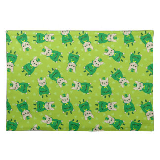 Cute French Bulldog is Feeling Lucky on St. Patric Placemat