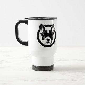 Cute French Bulldog Logo Travel Mug