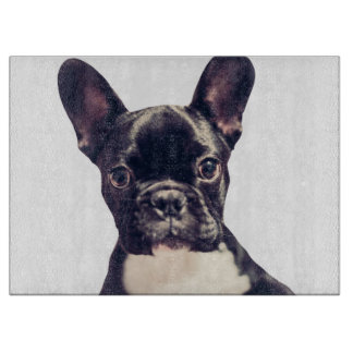 Cute French Bulldog puppy Cutting Board