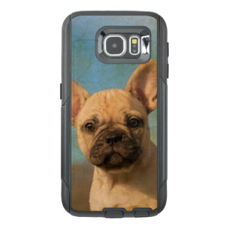 Cute French Bulldog Puppy Vintage  on Commutercase OtterBox Samsung Galaxy S6 Case