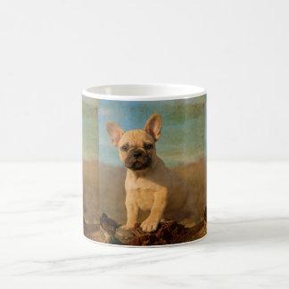 Cute French Bulldog Puppy Vintage Portrait Photo - Coffee Mug