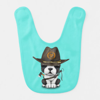 Cute French Bulldog Puppy Zombie Hunter Bib