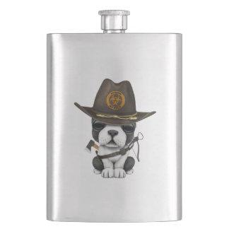 Cute French Bulldog Puppy Zombie Hunter Hip Flask