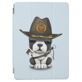 Cute French Bulldog Puppy Zombie Hunter iPad Air Cover