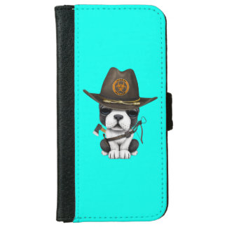 Cute French Bulldog Puppy Zombie Hunter iPhone 6 Wallet Case