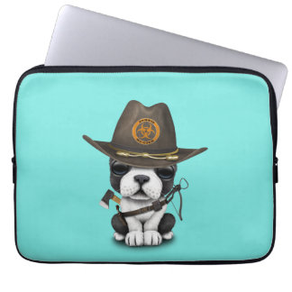 Cute French Bulldog Puppy Zombie Hunter Laptop Sleeve