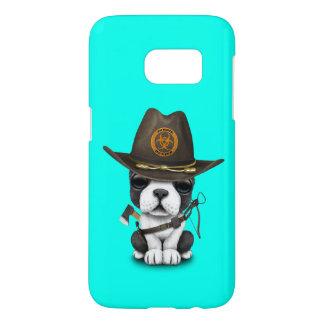 Cute French Bulldog Puppy Zombie Hunter Samsung Galaxy S7 Case