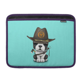 Cute French Bulldog Puppy Zombie Hunter Sleeve For MacBook Air