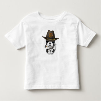 Cute French Bulldog Puppy Zombie Hunter Toddler T-shirt