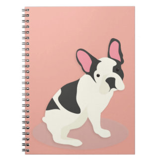 Cute French Bulldog. Spiral Notebook