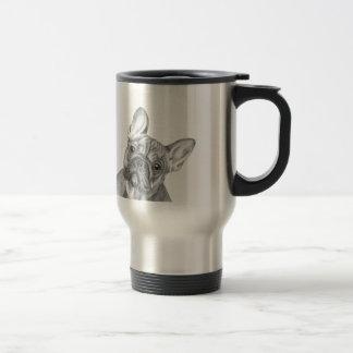 Cute French Bulldog stainless steel travel mug