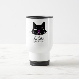 Cute French Cat Says Meow! Coffee Mugs