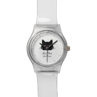 Cute French Cat Says Meow! Wrist Watch