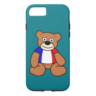 Cute French Flag Teddy Bear iPhone 7 Case