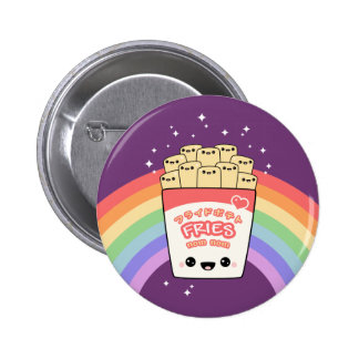 Cute French Fries 2 Inch Round Button