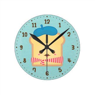 Cute French Toast Pun Humor Room Decor Clock