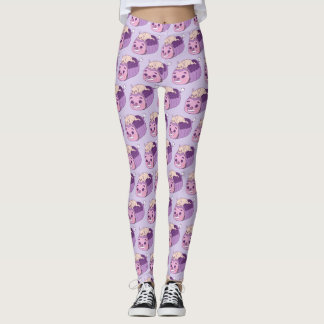 Cute Frenchie and her imaginary friend Leggings