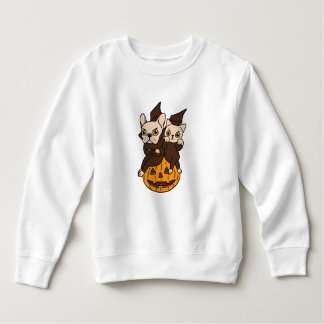 Cute Frenchie and kitten are Halloween buddies Sweatshirt