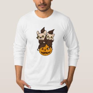 Cute Frenchie and kitten are Halloween buddies T-Shirt