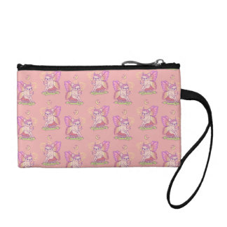 Cute Frenchie fairy is casting a magical spell Coin Purse