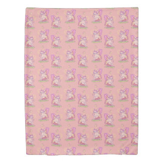 Cute Frenchie fairy is casting a magical spell Duvet Cover