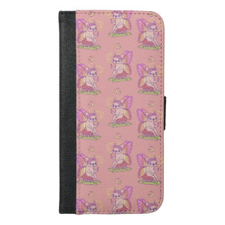 Cute Frenchie fairy is casting a magical spell iPhone 6/6s Plus Wallet Case