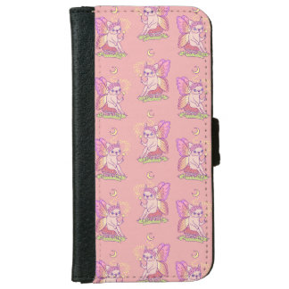 Cute Frenchie fairy is casting a magical spell iPhone 6 Wallet Case
