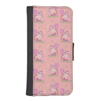 Cute Frenchie fairy is casting a magical spell iPhone SE/5/5s Wallet Case