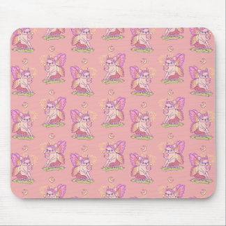 Cute Frenchie fairy is casting a magical spell Mouse Pad