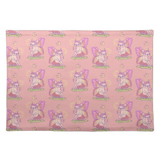 Cute Frenchie fairy is casting a magical spell Placemat