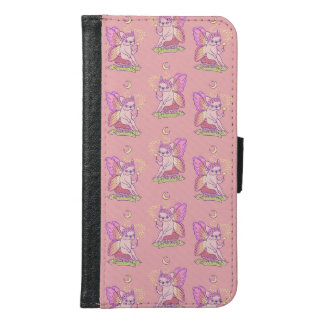 Cute Frenchie fairy is casting a magical spell Samsung Galaxy S6 Wallet Case