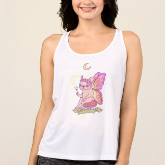 Cute Frenchie fairy is casting a magical spell Tank Top
