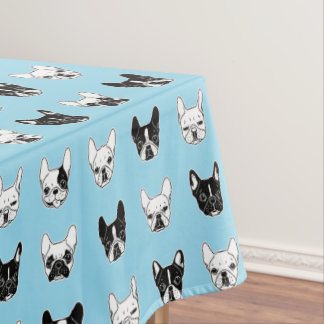 Cute Frenchies Doggie Family Collage 	Time for the Tablecloth