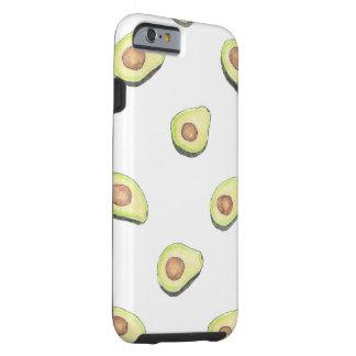 Cute fresh hand painted avocado pattern print tough iPhone 6 case